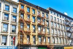 纽约都市看法  伦敦苏豪区区 街道、人们和touris 免版税图库摄影
