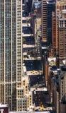 纽约都市风景俯视图 免版税图库摄影