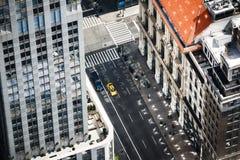 纽约都市风景俯视图 免版税库存图片