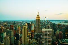 纽约都市风景夜 图库摄影