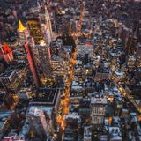 纽约顶视图  免版税库存图片
