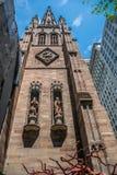 纽约领港教会哥特式建筑 库存图片