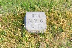 纽约骑兵纪念碑,葛底斯堡, PA 免版税图库摄影