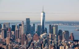 纽约鸟瞰图  库存照片