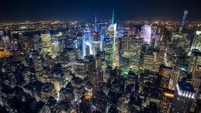 纽约鸟` s眼睛夜timelapse 股票视频