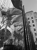 纽约黑白Xmas季节 图库摄影