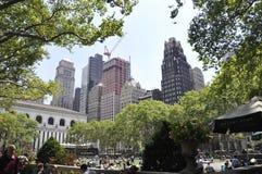 纽约,威严第3 :从曼哈顿的布耐恩特公园在纽约 库存照片