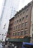纽约,威严第3 :从曼哈顿的百老汇历史建筑在纽约 免版税库存图片