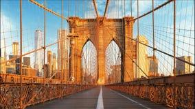 纽约,布鲁克林大桥,曼哈顿,美国-时间间隔 影视素材