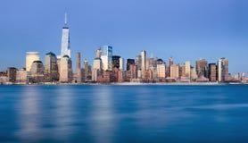 纽约,更低的曼哈顿地平线,美国 免版税库存图片