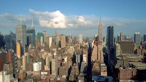 纽约,更低的曼哈顿鸟瞰图  Residental和财政企业大厦从上面 股票视频