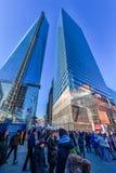 纽约,纽约- 2013年12月27日:与纽约的都市风景 中心一商业世界 免版税库存照片