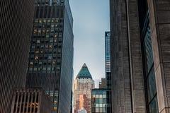 纽约,纽约- 2013年12月27日:NYC和都市风景的商业区 库存图片