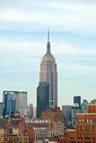 纽约,美国偶象摩天大楼大厦在街市曼哈顿 免版税图库摄影