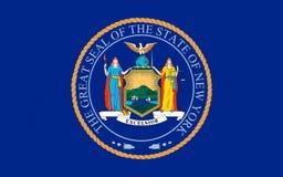 纽约,美国旗子  库存照片