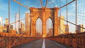 纽约,美国,布鲁克林大桥 免版税库存图片