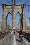纽约,美国, 2017年9月11日:布鲁克林大桥 增殖比 免版税库存照片