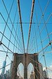 纽约,美国:布鲁克林大桥一个偶象看法2014年9月16日的 免版税库存照片