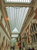 纽约,美国-人们在大都会博物馆享用 免版税库存图片