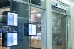 纽约,美国- 2018年8月:官员博斯商店在Oculus购物中心,纽约 Bose Corporation私下是a 库存照片