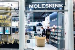 纽约,美国- 2018年8月:官员Moleskine商店在Oculus购物中心,纽约 Moleskine是意大利人 图库摄影