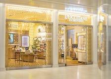 纽约,美国- 2018年8月:正式L ` Occitane en普罗旺斯商店在Oculus购物中心,纽约 L ` Occitane是 库存照片