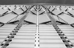 纽约,美国- 2018年3月30日:在世界tra的现代大厦 免版税库存照片