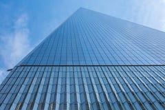 纽约,美国- 2018年3月30日:在世界tra的现代大厦 免版税库存图片