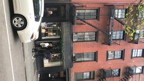纽约,美国- 2019年5月5日:垂直的录影 城市街道 股票录像