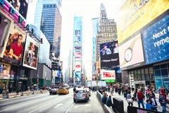 纽约,美国- 2017年11月2日:曼哈顿第7条大道` s视图在时代广场附近的 库存图片