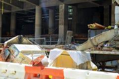纽约,美国- 04日2017年:修造建设中在曼哈顿 库存照片