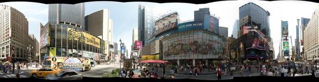 纽约,美国- 2013年9月:时代广场全景360度视图  库存图片