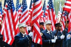 纽约,美国- 2015年3月17日:每年圣帕特里克的天游行 免版税库存照片