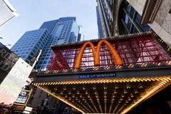 第42条街道的纽约麦克唐纳 免版税图库摄影
