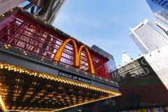 第42条街道的纽约麦克唐纳 免版税库存照片
