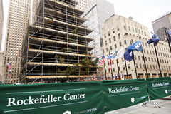 洛克菲勒中心Christmans树曼哈顿纽约NY 库存图片