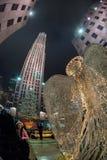 纽约,美国- 2011年12月9日- rockfeller中心庆祝的xmas的人们 免版税库存图片