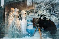 纽约,美国- 2011年12月11日- xmas的美好的商店显示 免版税库存图片