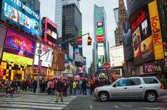 纽约,美国- 7月21,2014 :时代广场晚上我 免版税库存照片
