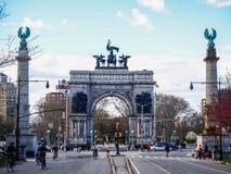 纽约,美国-盛大军队广场在纽约 库存图片