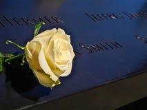 纽约,美国- 9/11纪念品水池在纽约 免版税库存照片