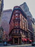 纽约,美国- DelmonicoÂ的餐馆在曼哈顿,纽约 免版税库存照片