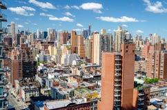 纽约,鸟瞰图 免版税图库摄影