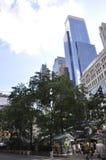 纽约, 7月2日:格里利广场在从纽约的曼哈顿中城在美国 免版税库存图片