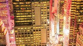 纽约, 2014年10月9日-日落在曼哈顿 股票录像