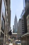 纽约, 7月2st日:Crysler塔在从纽约的曼哈顿中城在美国 免版税库存图片