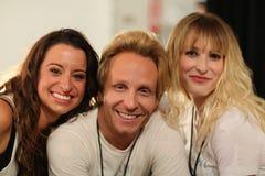 纽约, NY - 9月06日:后台美发师队在Venexiana 免版税库存照片