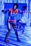 纽约, NY - 9月03日:在Athleta跑道展示期间,模型执行 免版税库存照片