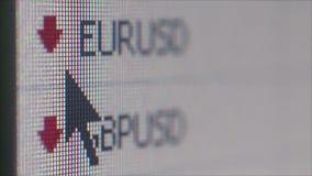 纽约, NY - 2016年5月15日:宏指令接近货币在一个金融服务网站上计算 股票视频