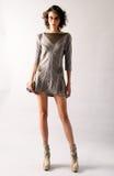 纽约, NY - 9月06日:模型摆在塞尔焦达维拉时尚介绍 库存图片